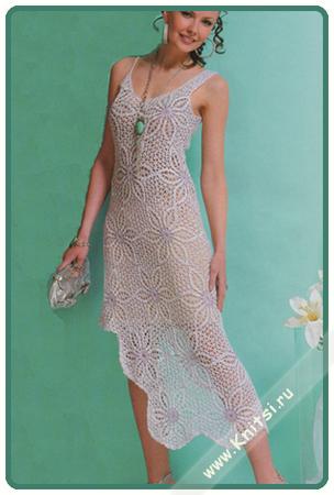 Короткие вязаные платья