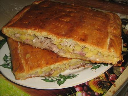 Мясной пирог с картошкой рецепт с фото