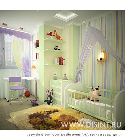 Цвет стен унисекс для детской