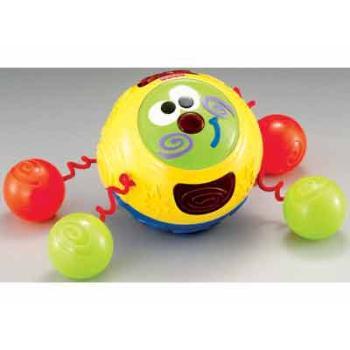 """Музыкальная игрушка  """"Ползи за мной """" У симпатичного игрушечного Колобка."""