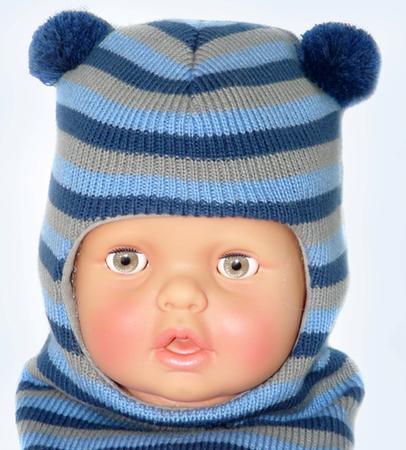 Связать шапку шлем для малышей